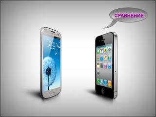 Сравнение смартфона samsung galaxy s3 против