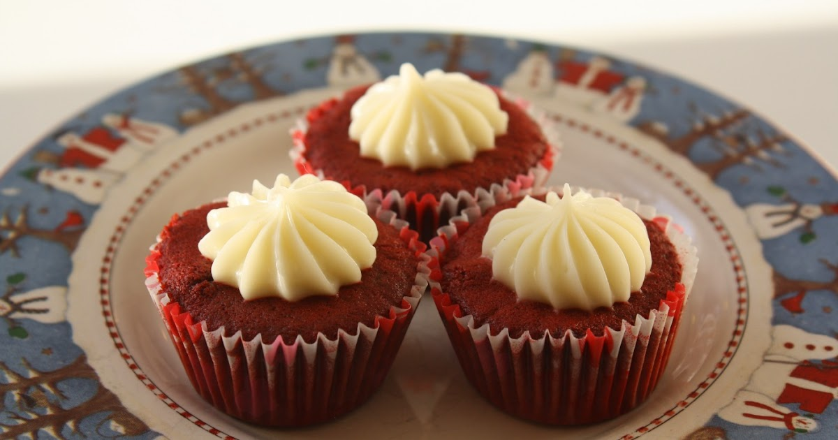 ... Cha Chow: Red Velvet Mini Cupcakes with Light Cream Cheese Frosting