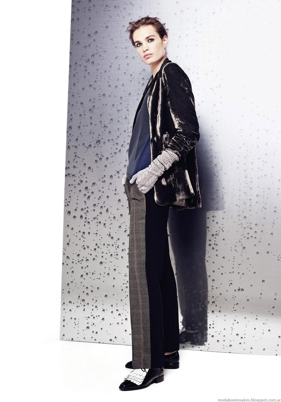 Moda en pantalones y sacos de mujer invierno 2014 Graciela Naum.