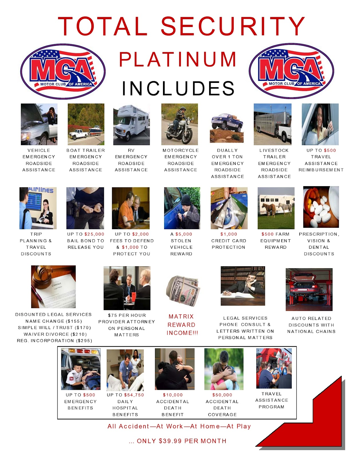 Motor club of america mca total security platinum for Motor club service provider application