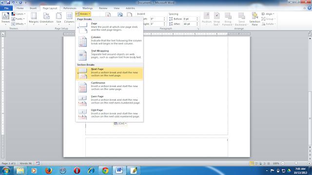 cara membuat format nomor yang berbeda dalam satu file