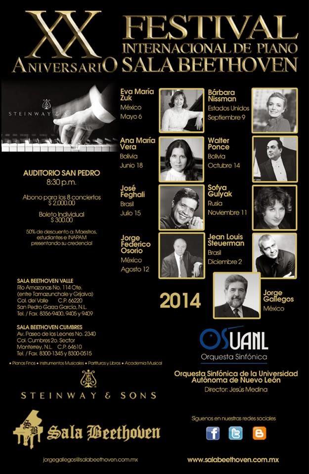 Programa FESTIVAL DE PIANO SALA BEETHOVEN 2014