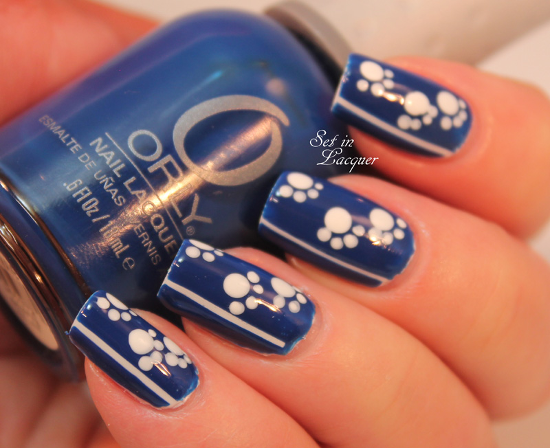 Final Four - UK Wildcats nail art - Set in Lacquer