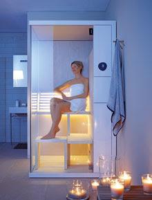 Sauna compacta dise ada para ba os peque os inipi b de duravit bonitadecoraci - Banos super pequenos ...