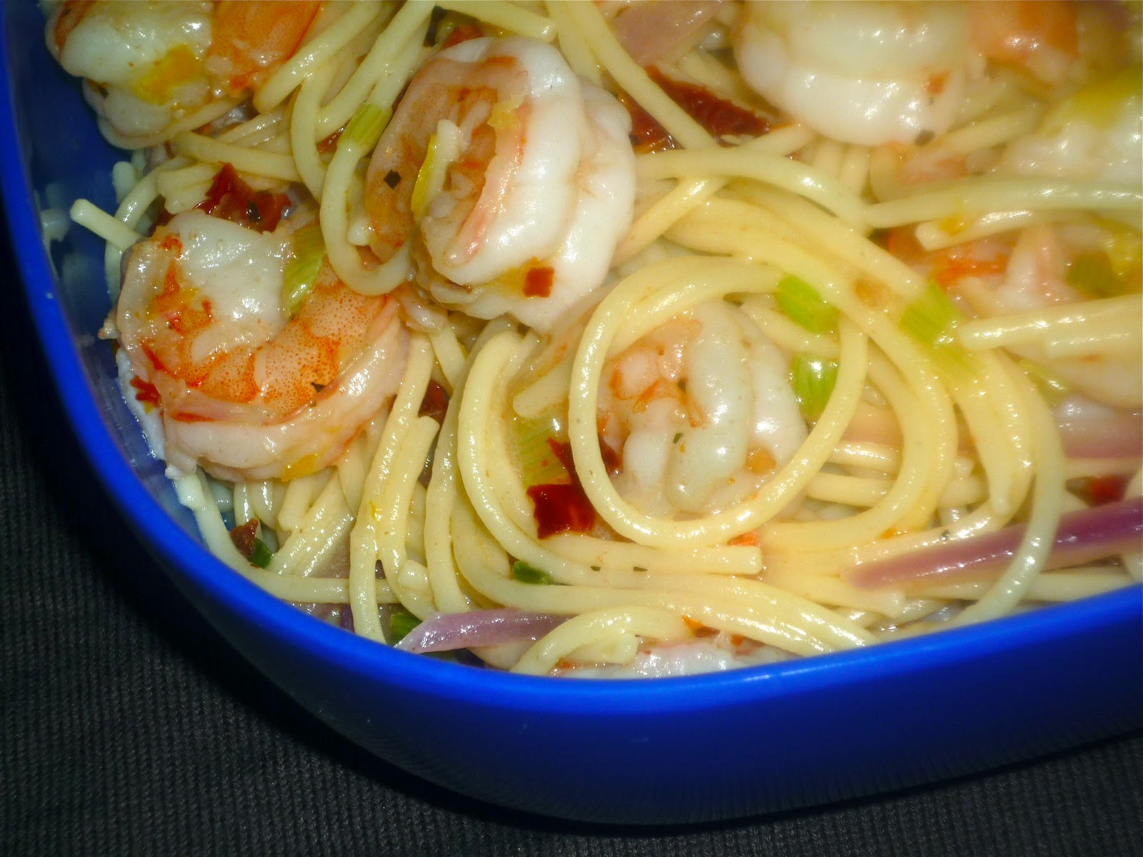 Back To School SundaySupperFeaturing Speedy Spicy Shrimp Pasta