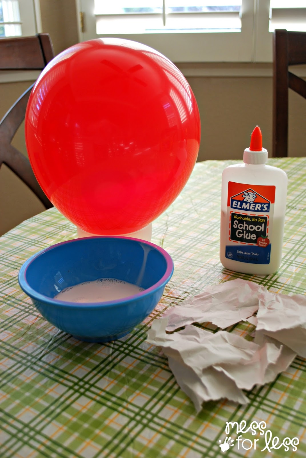 how to make paper mache glue