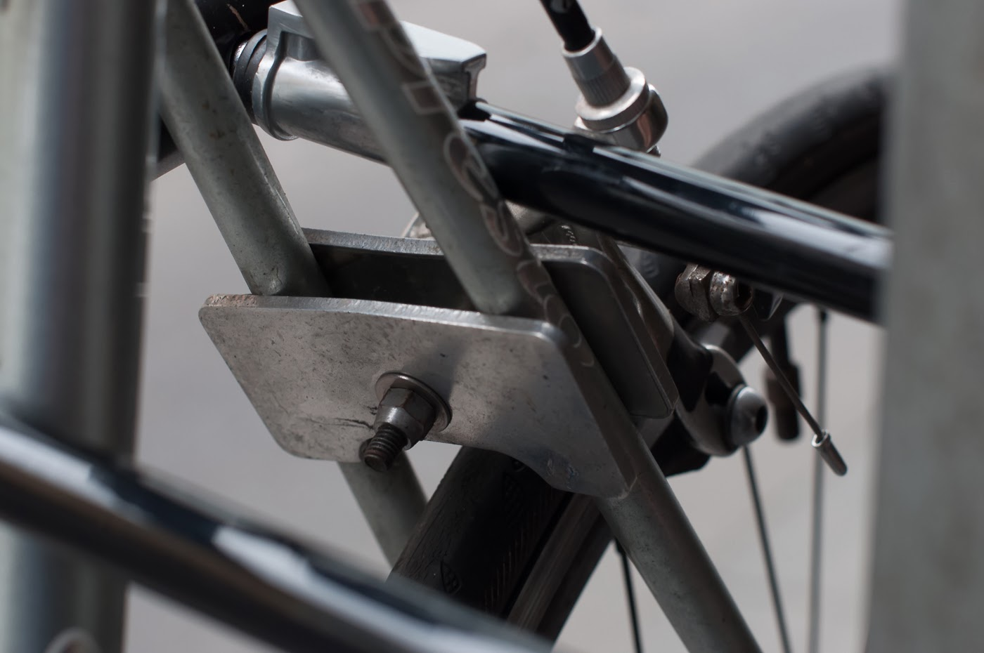 njs, single speed, bike, bicycle, tim macauley, the biketorialist, melbourne, track frame, conversion, presto, brake mount, custom
