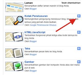 Langkah-langkah Memasang Widget Search di Blog