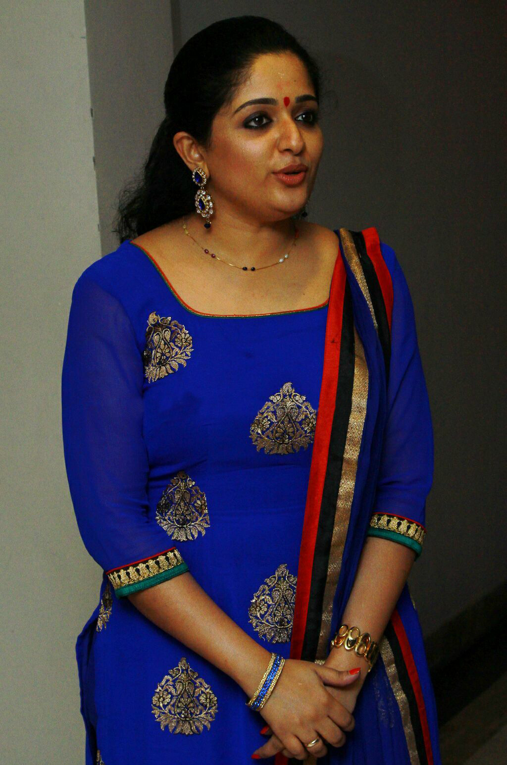 Kavya Madhavan Latest In Blue Churidar Tollywood Stars