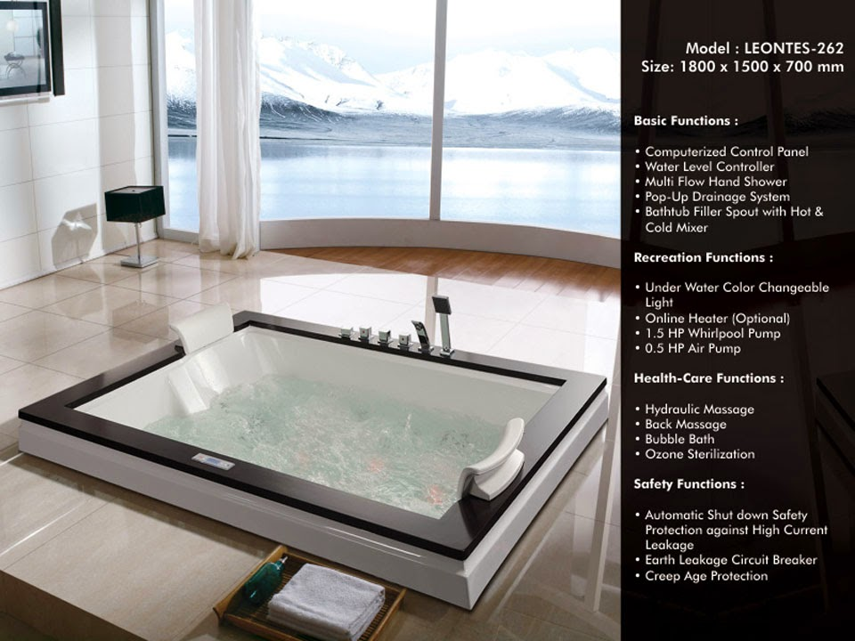Whirlpool Bathtubs, Waterfall Bathtub, Jacuzzi Bathtub, Bathtubs In India.A  Bathtub, Bath Or Tub (informal) Is A Large Container For Holding Water In  ...
