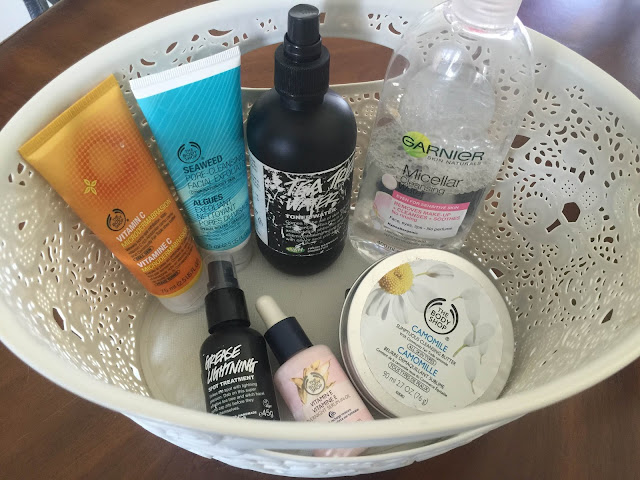 Skincare Basket: Current Skincare Routine