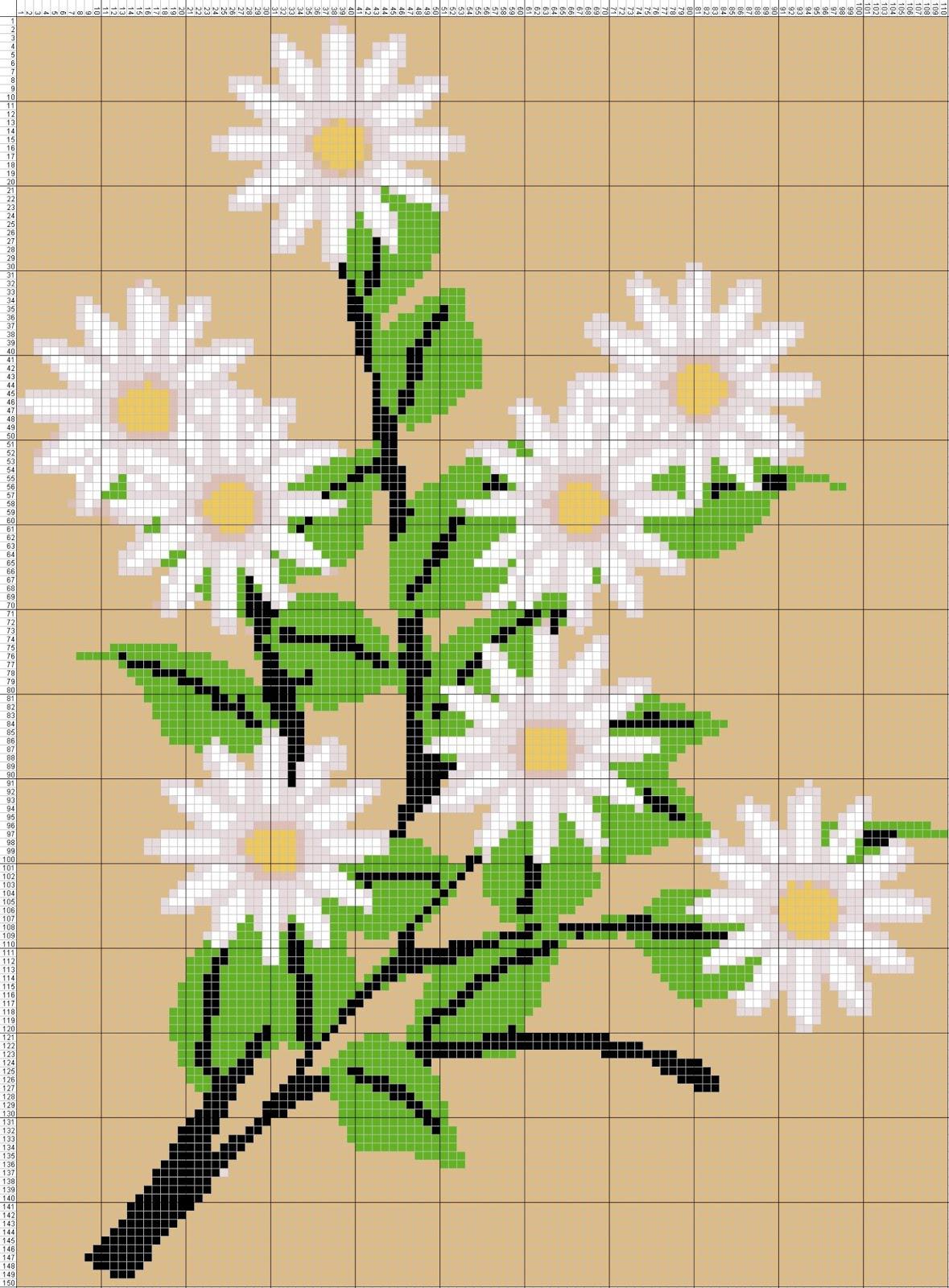 Gambar Pola Kristik Bunga