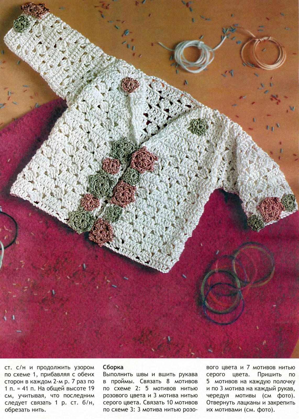 Выкройка для вязаной кофты на девочку 2 года фото 574
