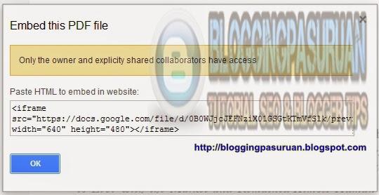 Cara  Memasukan File DOC,EXEL,POWERPOINT,PDF Ke Dalam Posting Blog