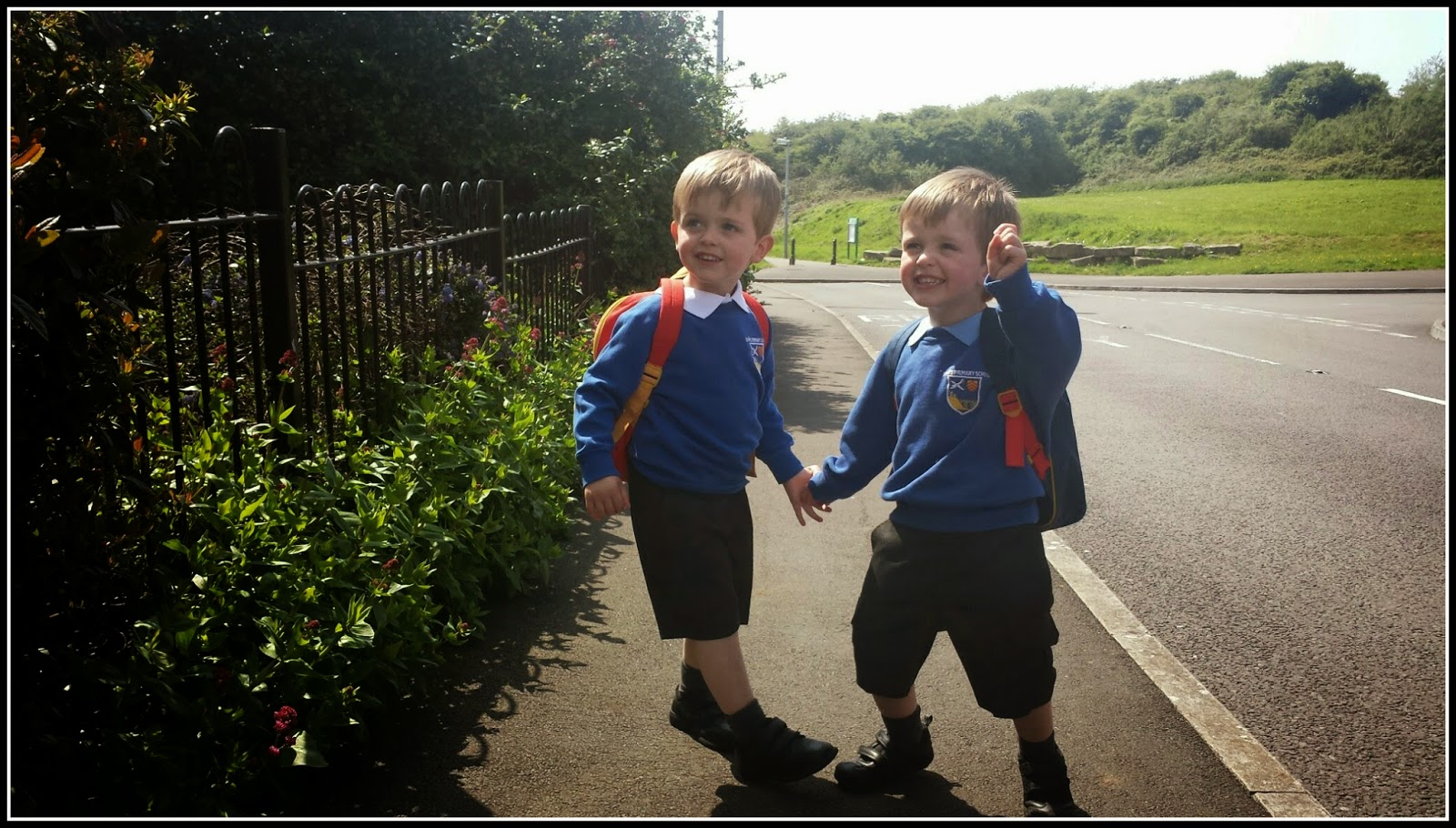Twin boys starting pre school