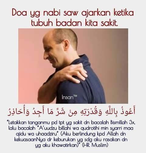 Doa ketika badan sakit