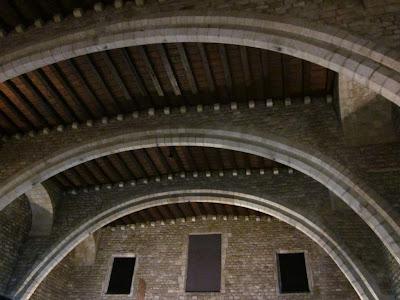 Saló del Tinell inside El Palau Reial in Barcelona
