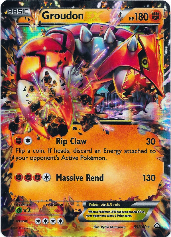 groudon ex primal clash pokemon card review