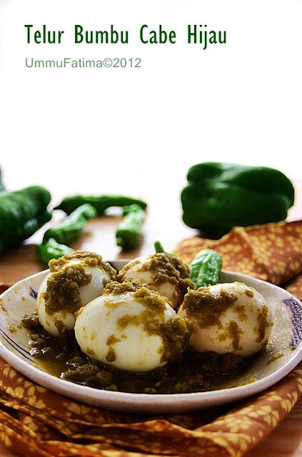telur masak cabe hijau