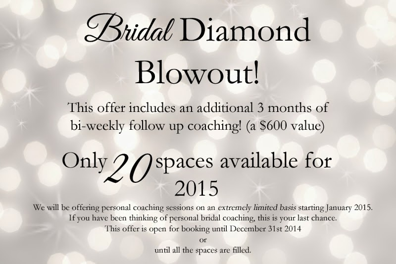 Bridal Coaching Promotion