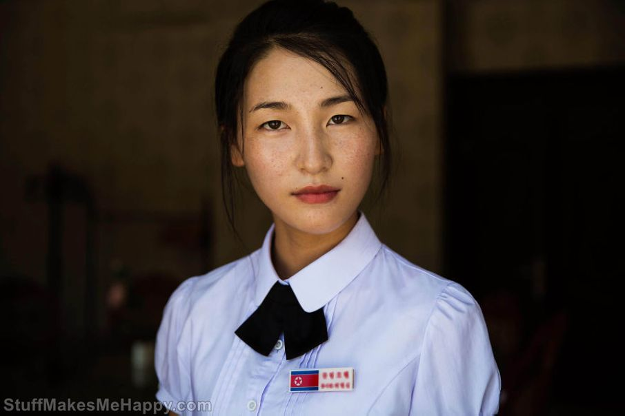 She works in a hotel in Sinuiju