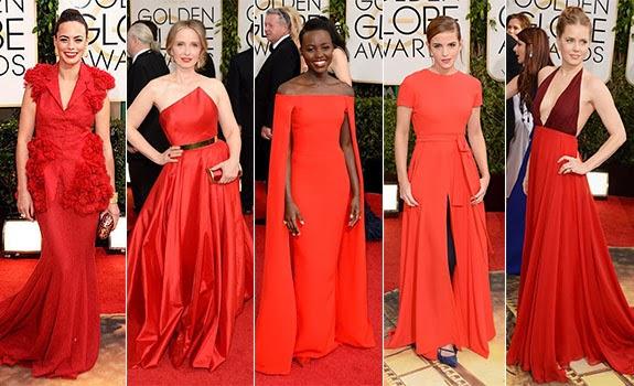 Kırmızı halı elbiseleri 2014