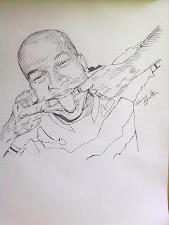 Vítor Tito - desenho com caneta esferográfica by Fabrício Sant'Ana