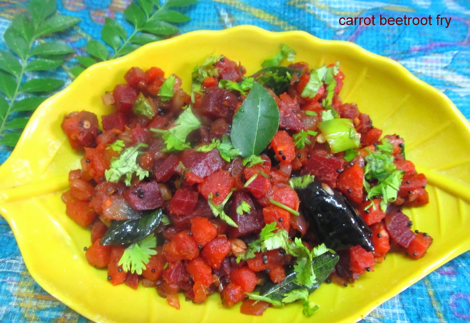 carrot beetroot fry