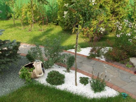 Piedras en el jard n y terraza ideas para decorar for Camino de piedra jardin