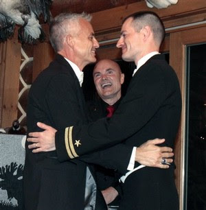 Navy Lt. Gary Ross married his partner