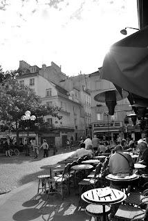 En terrasse Place de la Contrescarpe - Mouffetard - Paris 5