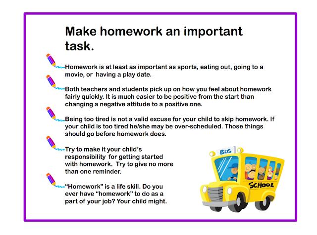 Parents homework tips