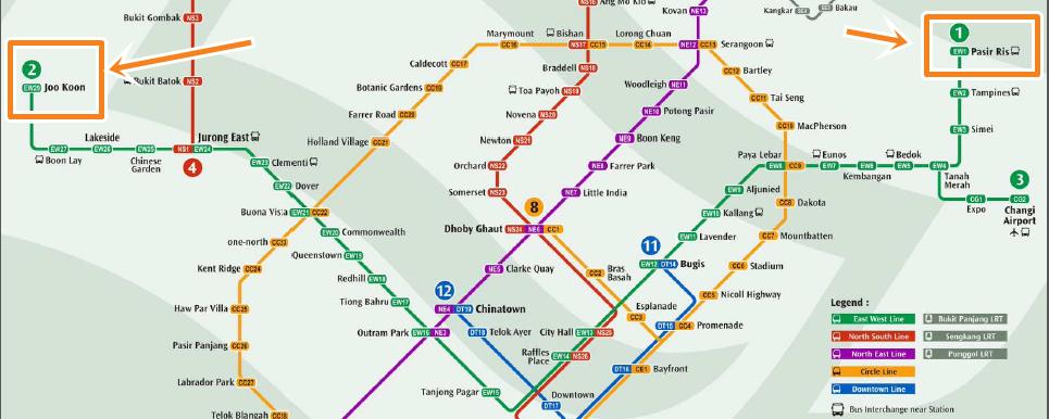 Line Artinya : Tips dan cara menggunakan naik mrt di singapore tempat