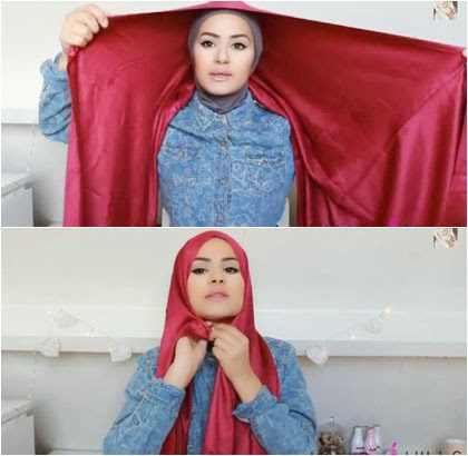 Tutorial Hijab Mudah dengan Scarf Satin Untuk yang Baru Berhijab
