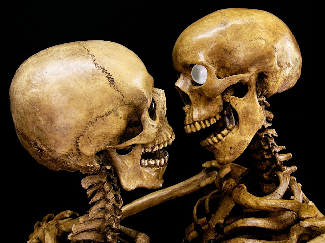Jean-Marc Laroche - Skeleton lovers kiss