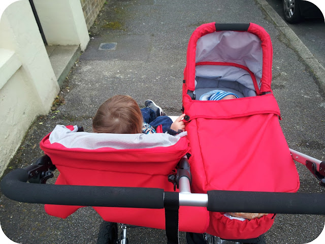 easywalker duo, double pushchair with carrycot, double buggy, easywalker
