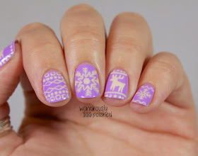 wondrously polished december nail art challenge  day 1