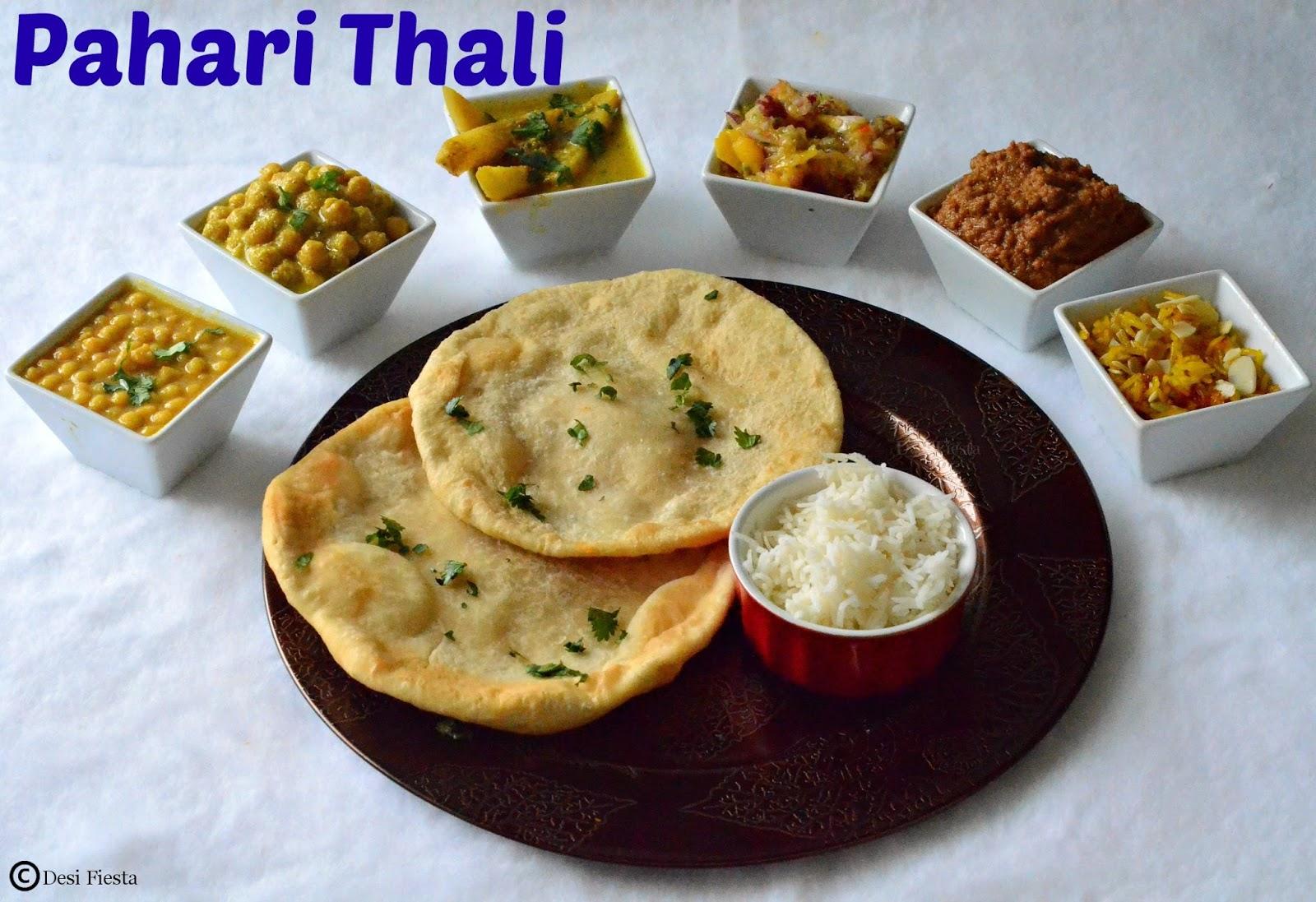 Desi fiesta himachal pradesh thali pahari thali for Arunachal pradesh cuisine