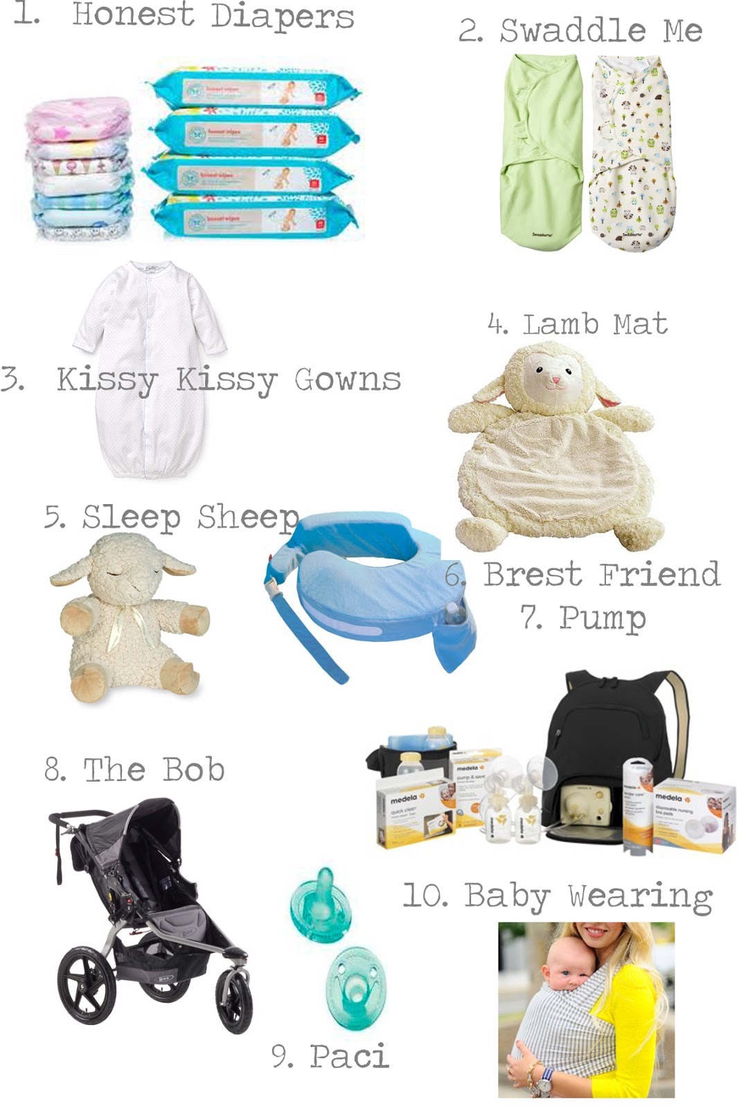 You'll need to make a plan for baby to sleep somewhere. A bassinet cradle or three-sided crib (co-sleeper) can be a good option for the first few months if you prefer to start small. A bassinet cradle or three-sided crib (co-sleeper) can be a good option for the first few months if you prefer to start small.