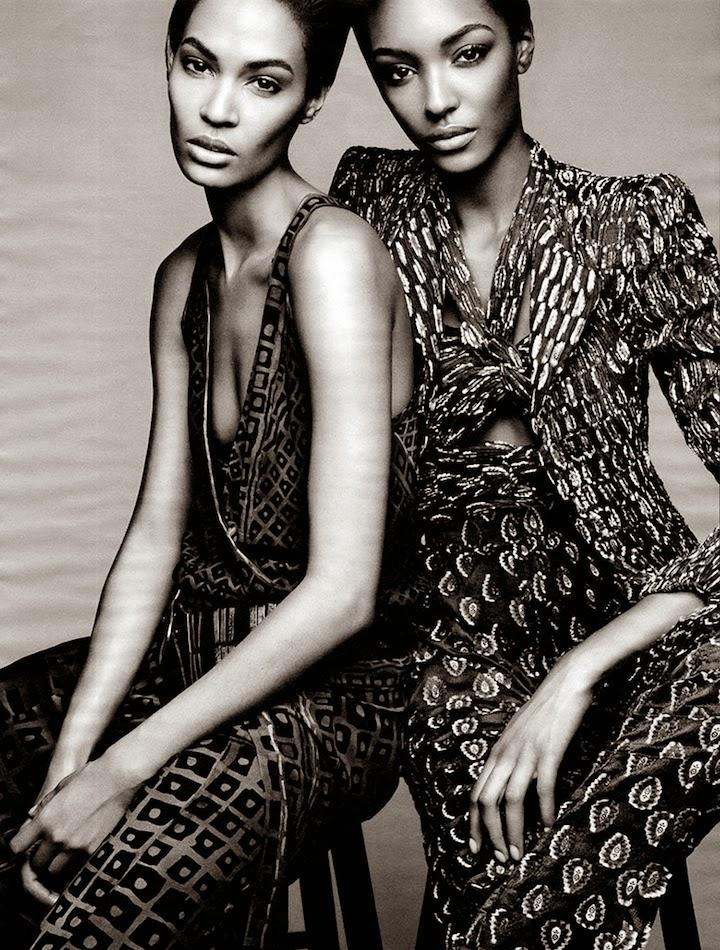 Joan Smalls Jourdan Dunn for Vogue April 2014