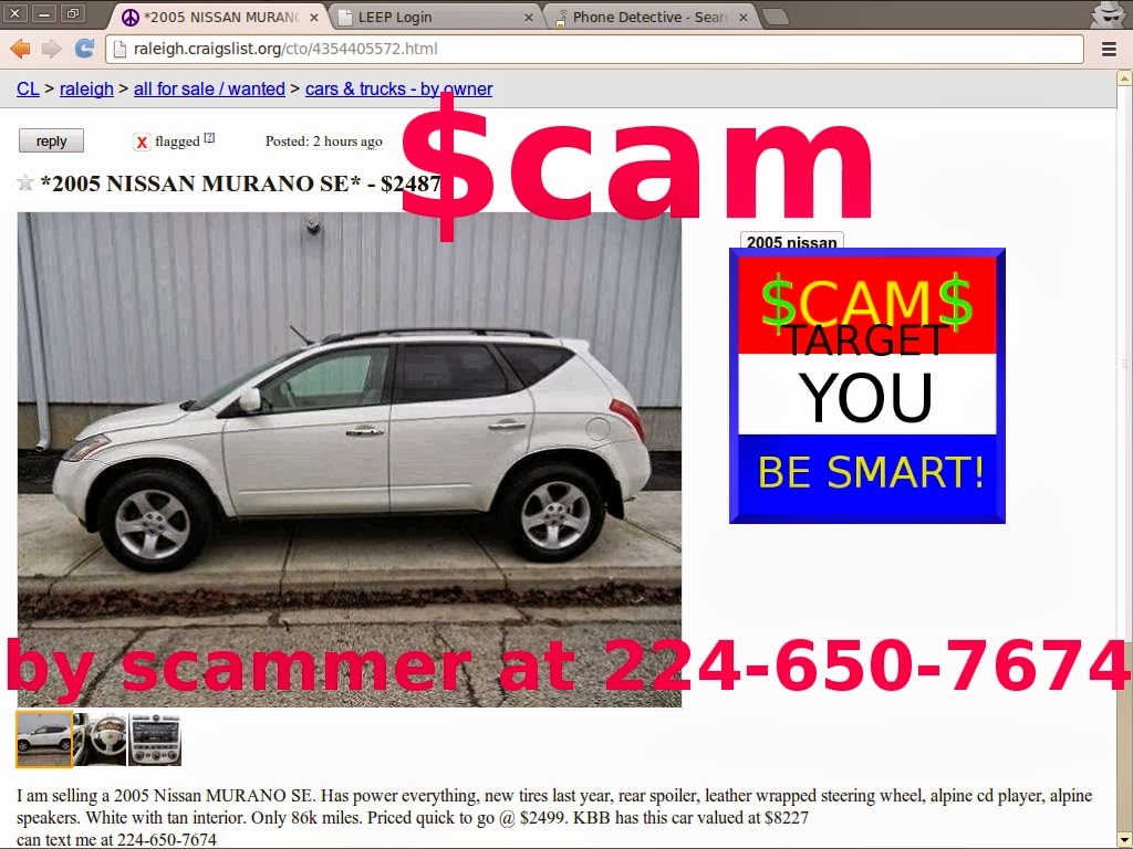 Scam ads with email addresses and phone numbers posted 02 28 14