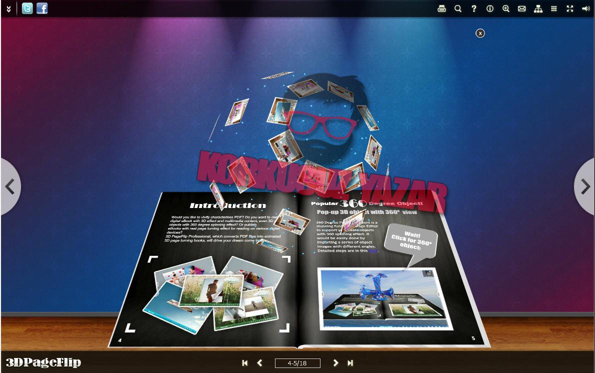 3D PageFlip Professional Kullanımı