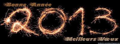 Couverture Facebook Bonne année 2013