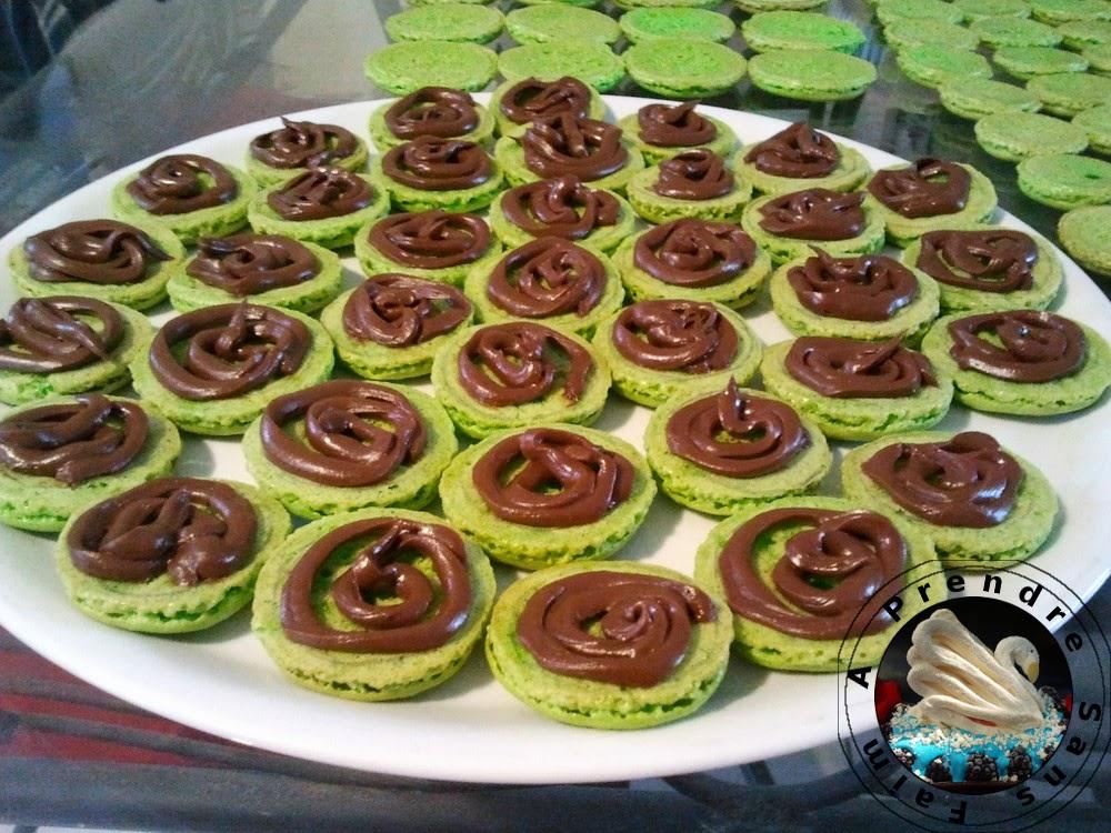 Macarons menthe chocolat pas pas en photos a prendre sans faim - Comment congeler des haricots verts du jardin ...