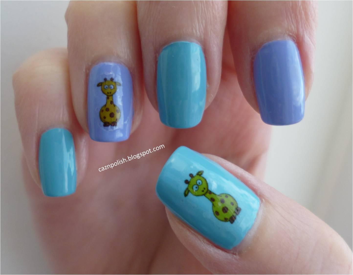 caz 'n' polish | Giraffe Nail Transfers