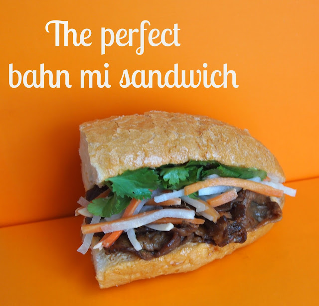 ... sandwich covered in sweet, crunchy pickles, refreshing cilantro, and