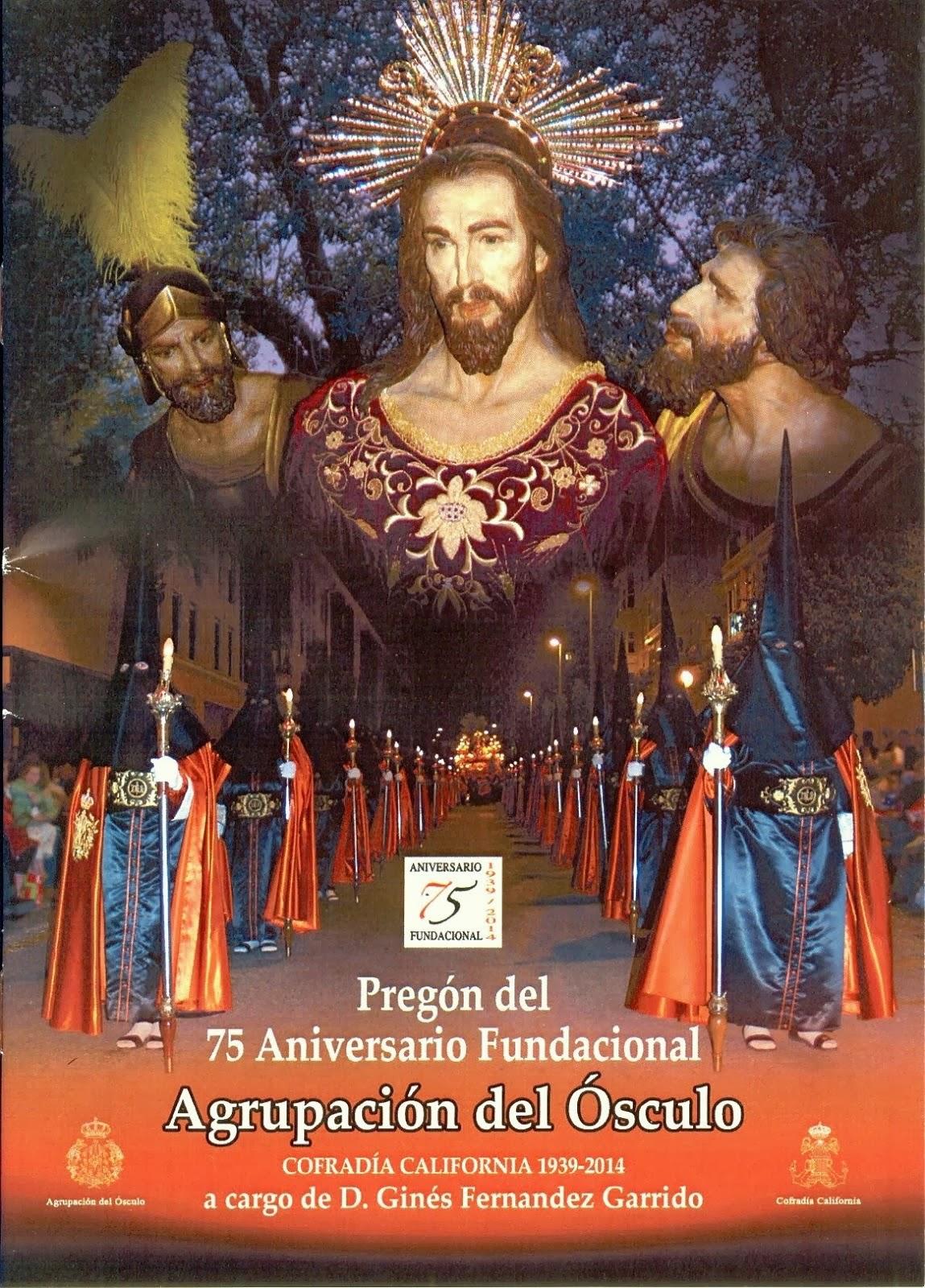 Cartel 75 Aniversario Fundacional Agrupación del Ósculo