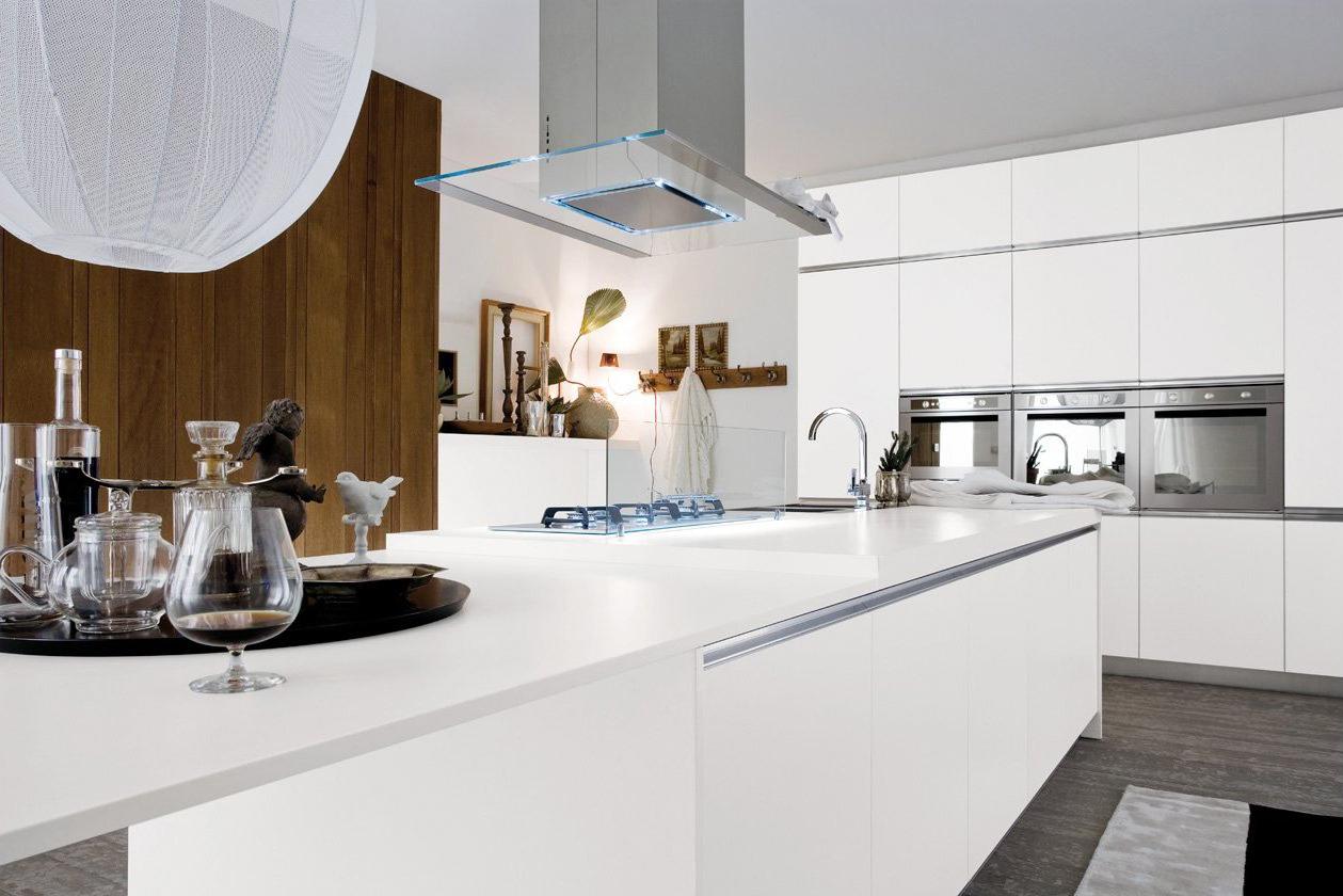 cuisine design blanche avec lot
