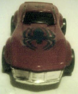 Front view of Spider-Man diecast car 2009