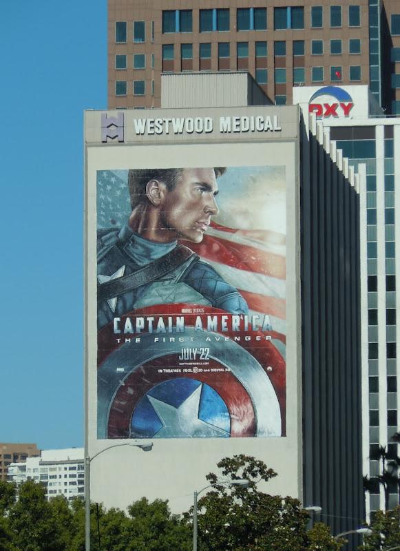 Giant Captain America movie billboard